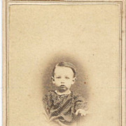 Real Photo Two Year Old circa 1850 With Period Necklace