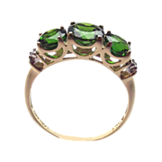 Russian Chrome Diopside 10Kt Y. Gold 2ct Ring sz.7