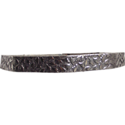 Sterling Bangle Eight Sided Polygon Hand Chased