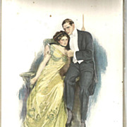 """Clarence Underwood 1909 Signed  Print """"Not at Home To Anyone"""""""