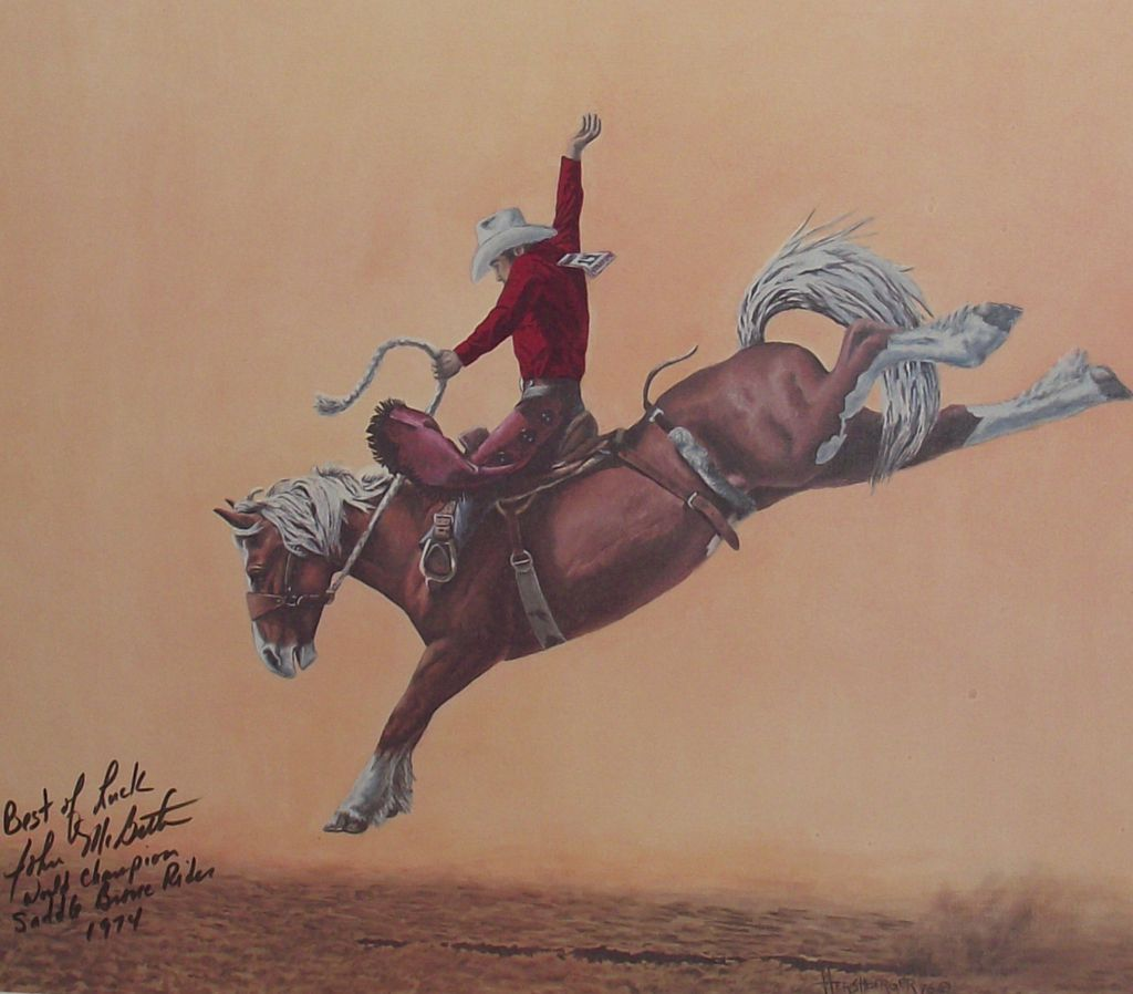Bronc Riding Drawings Roll Over Large Image to