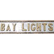 """Vintage Chip Carved Wooden Sign """"Bay Lights"""" Coast of Maine"""