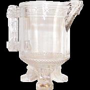 Santa Claus EAPG Creamer 1880 Labelle Glass Co