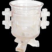 Santa Claus EAPG Open Sugar 1880 Labelle Glass Co