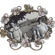 Edwardian Picture Frame with Pansies