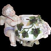 19th Cent. German Porcelain Cherub Rose Bowl
