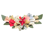 1920s Celluloid Floral Brooch  3 Dimensional