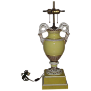 Meissen Snake Handle Table Lamp Early 20th C.