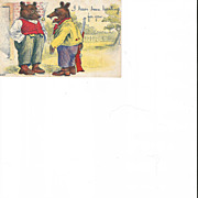 I Have Been Hunting For You Male Brown Bear One with Gun Post Card
