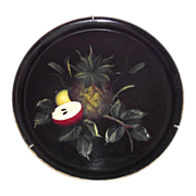 Pineapple and Fruit Round Tole Tray