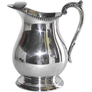 SOLD Poole Silver Plate Large Water Pitcher with Ice Lip