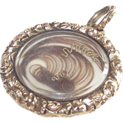 Prince of Wales Plated Hair Locket Circa 1860