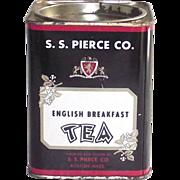 S.S.Pierce English Breakfast Tea Tin