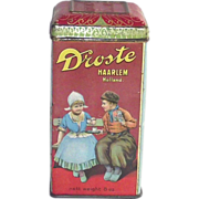 SOLD Dorst Cocoa Tin  with Dutch Children in Wooden Shoes