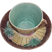 Etruscan Majolica Bamboo Cup & Saucer