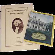 1932 Mount Vernon Souvenir Brochure & 1929 Washington Monument 2nd edition Souvenir Brochure