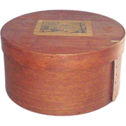 """Early 19th Century 8 3/4"""" Bentwood Pantry Box"""