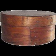"Early 19th Century 7 ½"" Honey Brown Pantry Box"
