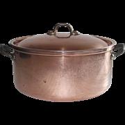 SOLD Copper 3 Qt Stockpot - Saucier with Lid