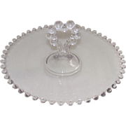 "Imperial Candlewick Center Heart Handled 8 1/4"" Clear Tray"
