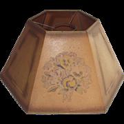 Circa 1900 Parchment Oil Lamp Shade