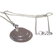 Sterling Triple Tablets Pendant Necklace