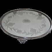 Art Deco Plateau  Toronto Silver Plate with Glass Center     Dining Room Center Piece