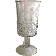 Mascotte – Minor Block EAPG Celery Glass with Machine Etching
