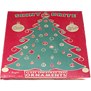 12 Large Shiny Brite Christmas Ornaments with Original Box