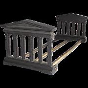 Greek Acropolis Book Rack with Brass Rails