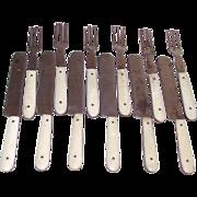 Bone Handled Toy Flatware 12 Piece Set Children's Forks Knives