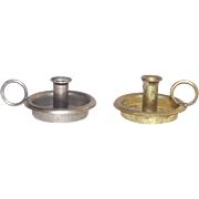 Small Brass Finger Candle Holder for Doll House