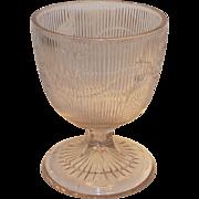 Bellflower Large Open Sugar – Butter Milk EAPG Boston and Sandwich Co  1840s Flint Glass