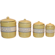 Childs Doll House 4 Piece Canister Set  Made by Tender Heart Treasures for the American Girl Dolls