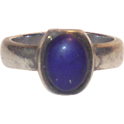 Sterling and Lapis Lazuli sz 8 Ring