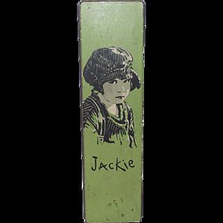 "Jackie Coogan 1930s ""Our Gang"" Child Movie Star Tin Metal Pencil Box"