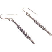 Sterling Stick-Baton Style Earrings