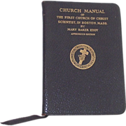 Church Manual 89th Edition Mary Baker Eddy Church of Christ Scientist Boston MA
