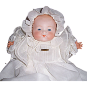 Armand Marseille German My Dream Baby Doll in Long Christening Gown. Display Ready. Gorgeous!