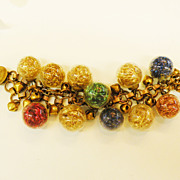 SALE Confetti Glass Ball Cha Cha Bracelet