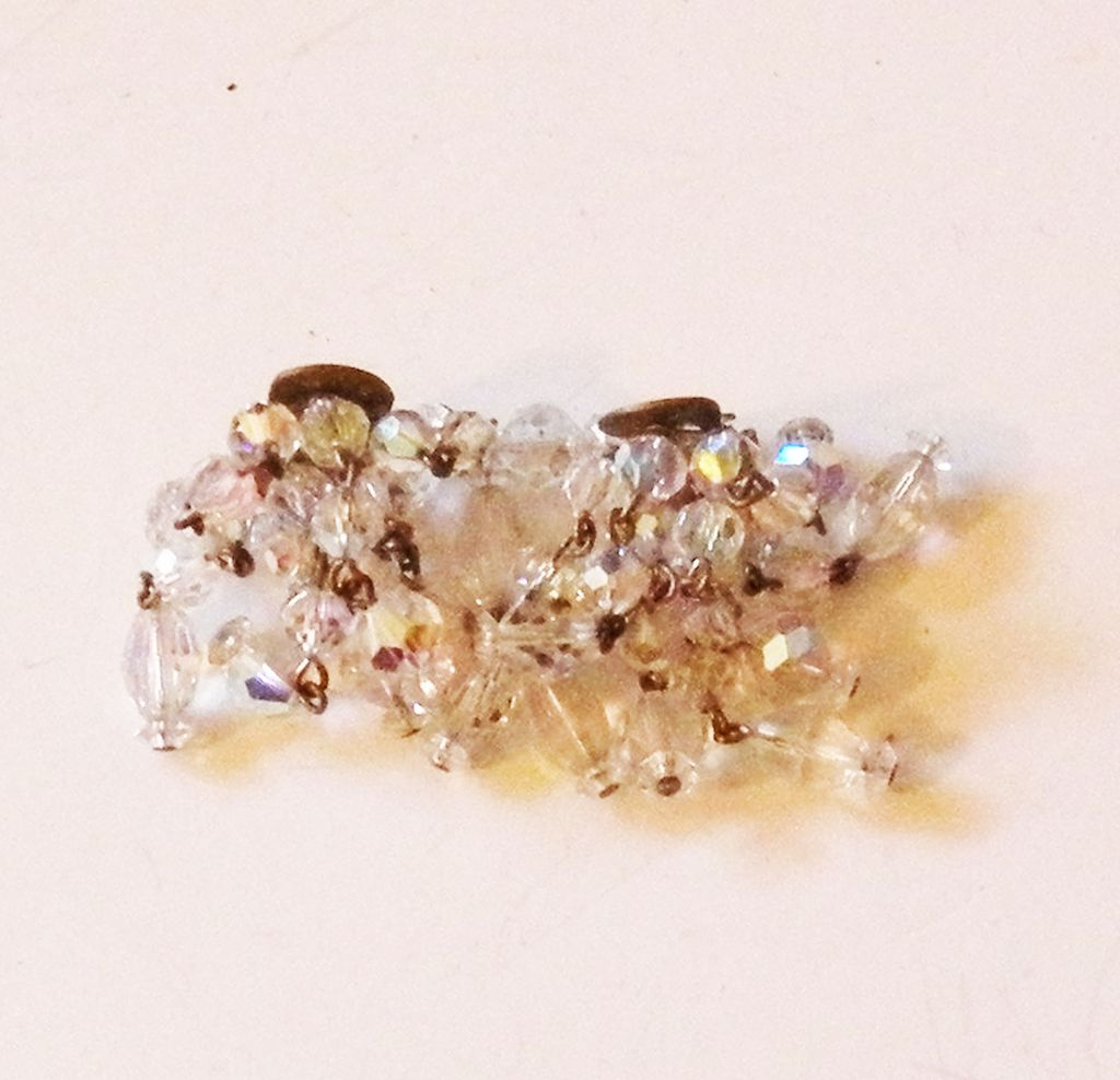 LAGUNA Drippy Crystal Cluster Aurora Borealis Earrings