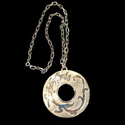 SALE TRIFARI Mythical Lizard Silver Tone Metal Textured and Shiny Pendant Necklace