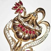 SALE Coro Pegasus Des Pat Pend Retro Turk's Cap Lily Large Gold Colored Finish Brooch