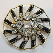 SALE FREIRICH Baguette, Square and Round Rhinestone Brooch