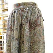 SALE GEORGES RECH Paris for Synonyme Persian Tile Discharge Print Wool Challis Skirt
