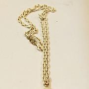 TRIFARI Molded Plastic Creamy Shell Pendant Necklace