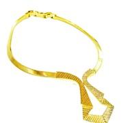 SALE CROWN TRIFARI Sculpture and Textured Drop Collar Tuxedo Necklace