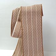 Calvin Klein Long Scarf.  Brown & Cream.  As New Condition.