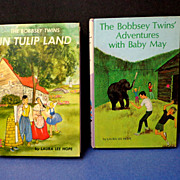 SOLD 2 Bobbsey Twins.  In Tulip Land.  Adventures with Baby May.  Early eds.  Mint condition.
