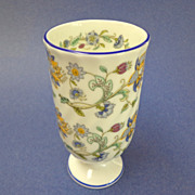 Minton Tumbler / Vase.  Haddon Hall Blue Pattern.  Mint Condition.
